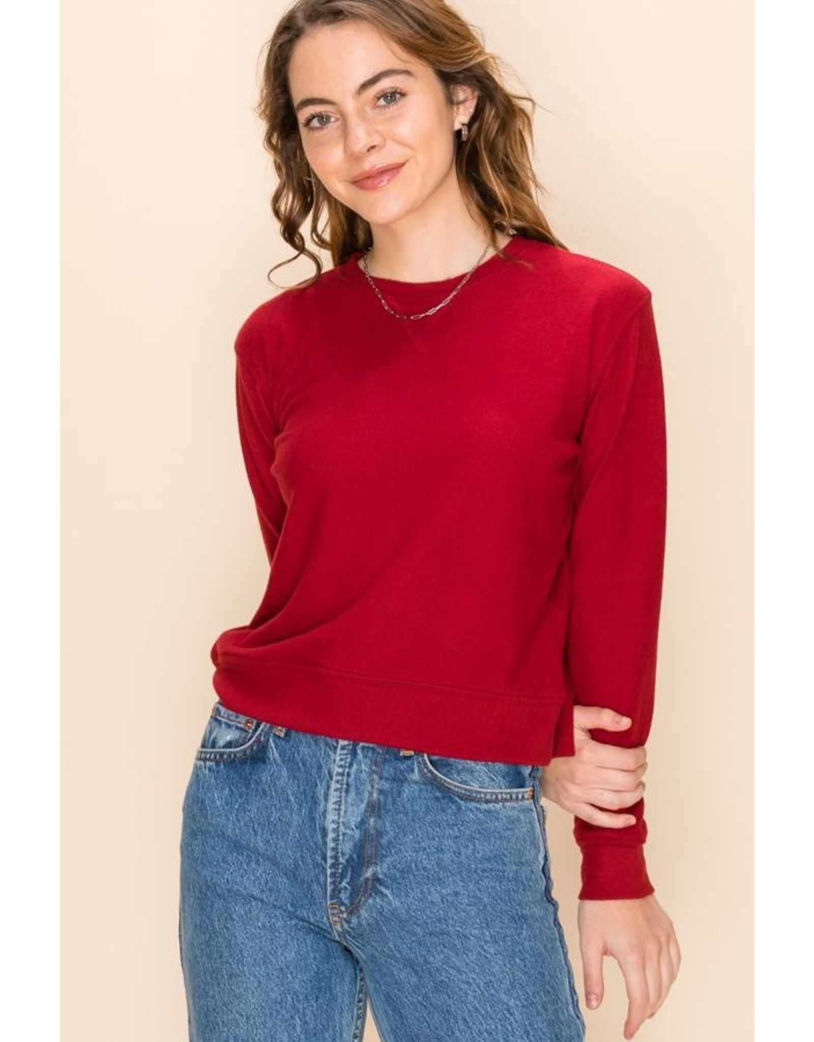 MADDIE Red Pullover