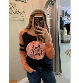 TRICK OR TREAT Black and Orange Long Sleeve