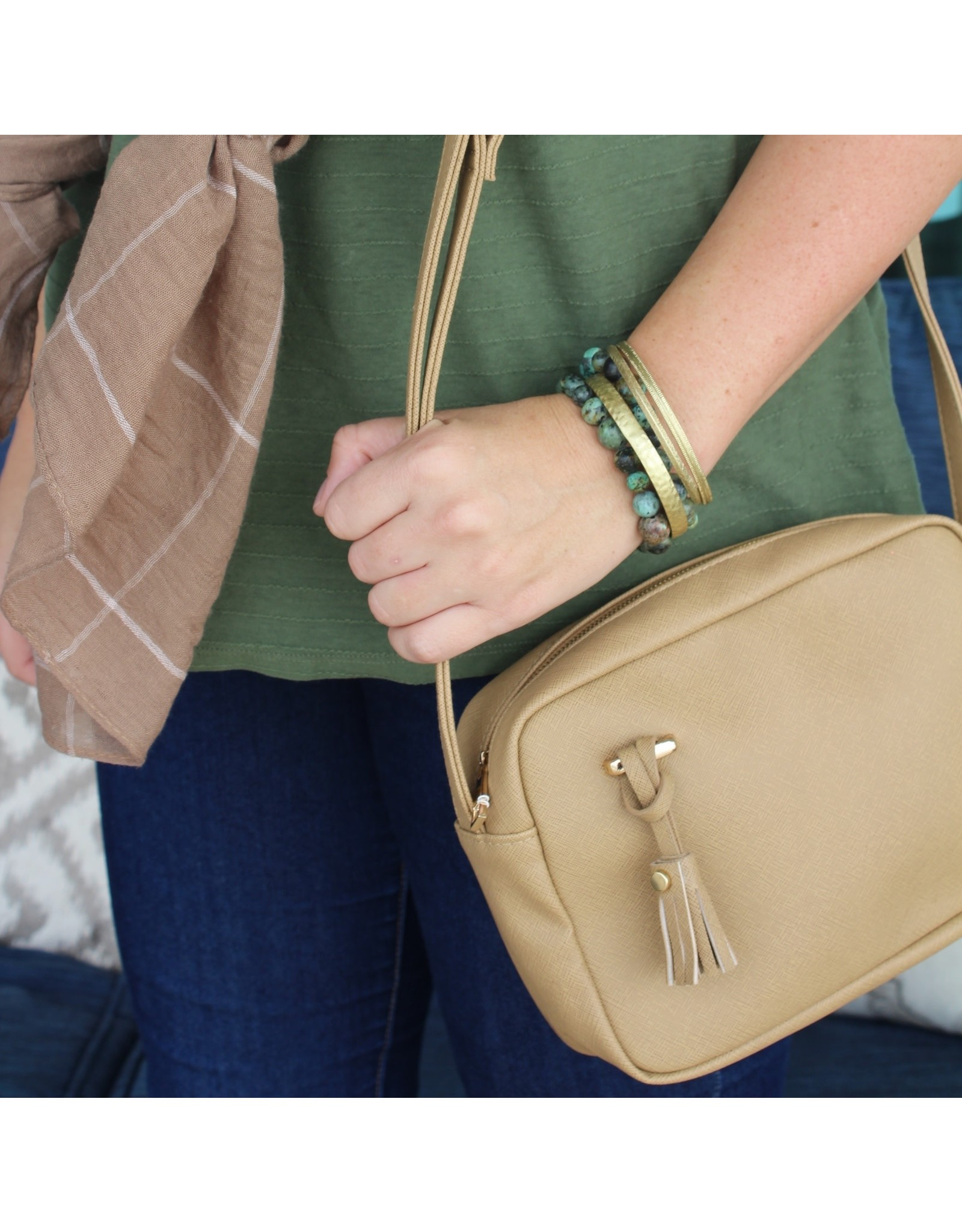 The Ritzy Gypsy ZOEY Camel Crossbody