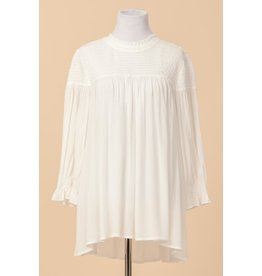 fashiongo A NIGHT AWAY Smocked High Neck Top