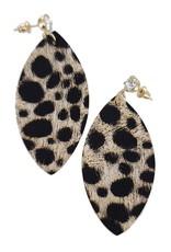 Funteze Accessories WILD AT HEART Animal Print Earring