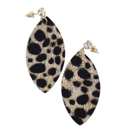 Funteze Accessories WILD AT HEART Animal Print Earring