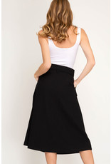The Ritzy Gypsy DOWNTOWN DREAMS Paperbag Midi Skirt with Belt