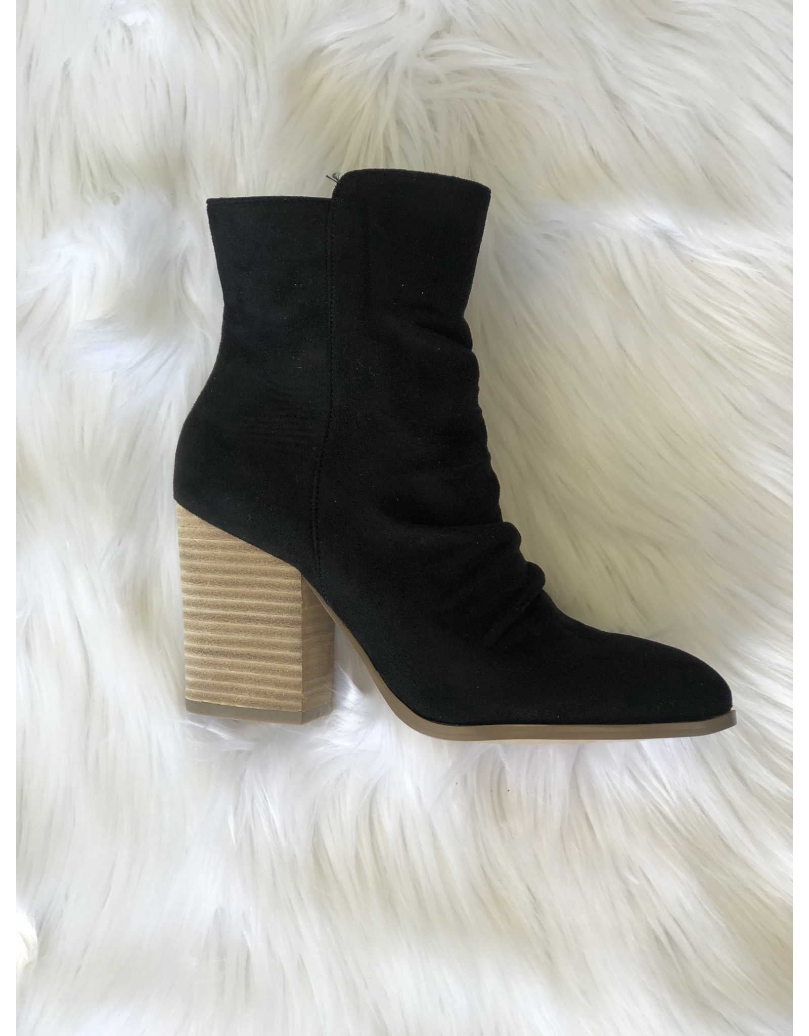 0 limit fashion BETH High Ankle Black Booties