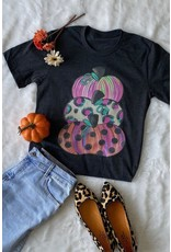 fashiongo PUMPKIN TOWER Black Graphic Tee