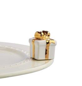 Nora Fleming GOLDEN WISHES mini (White Present)