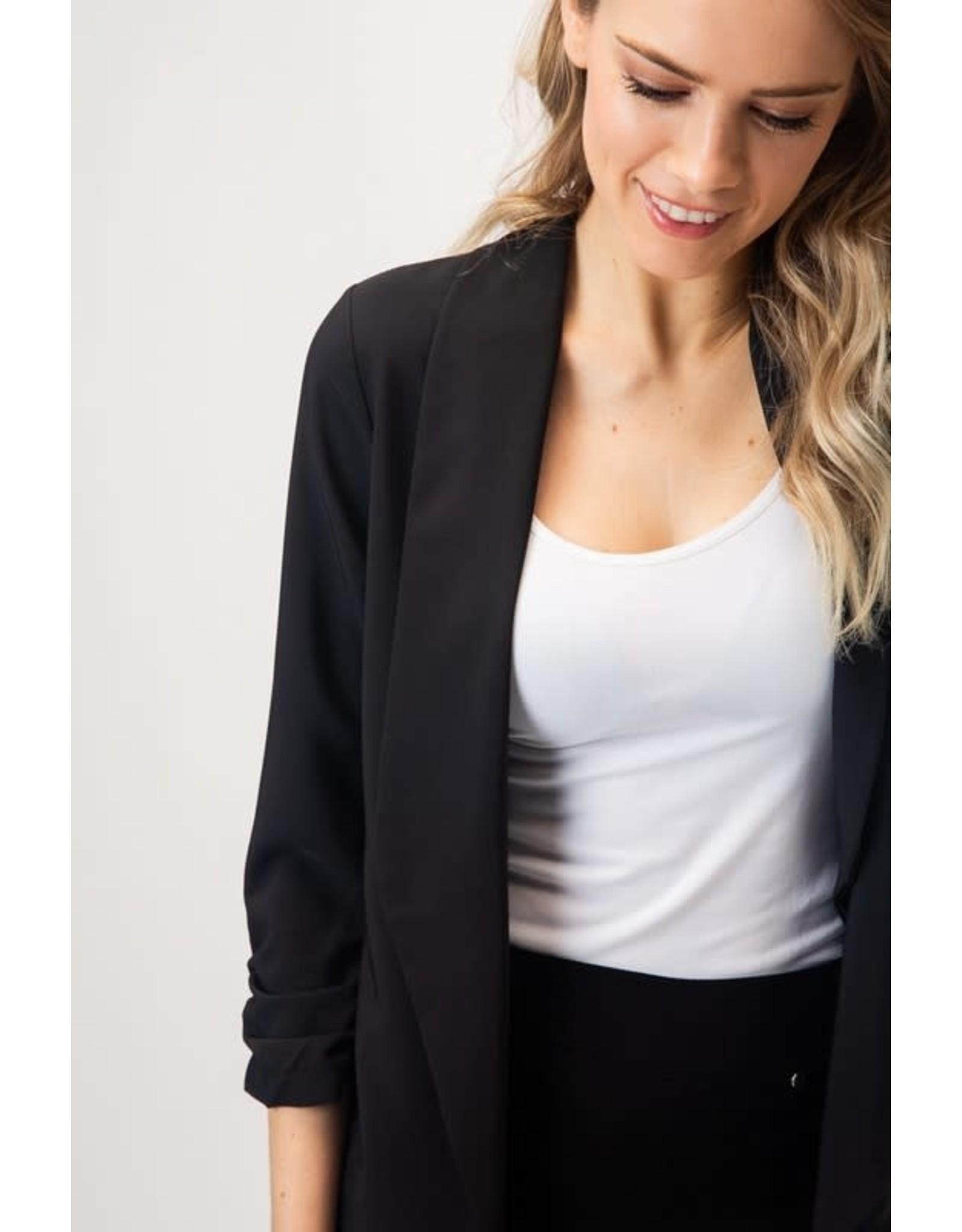 fashiongo DOWN TO BUSINESS Black Blazer
