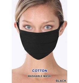 Zenana Premium Black Face Mask