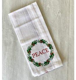 The Ritzy Gypsy PEACE Wreath Towel