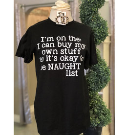 TSC Apparel NAUGHTY LIST Graphic Tee