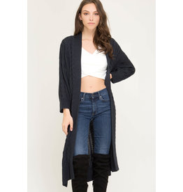 She+Sky LUCKY IN LOVE Navy Duster Cardigan (ONE SIZE)
