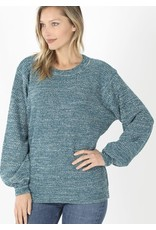 Zenana Premium BREEZE Balloon Sleeve Sweater