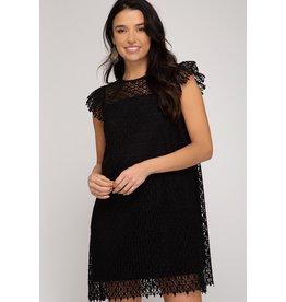 She+Sky MANDY Black Lace Dress