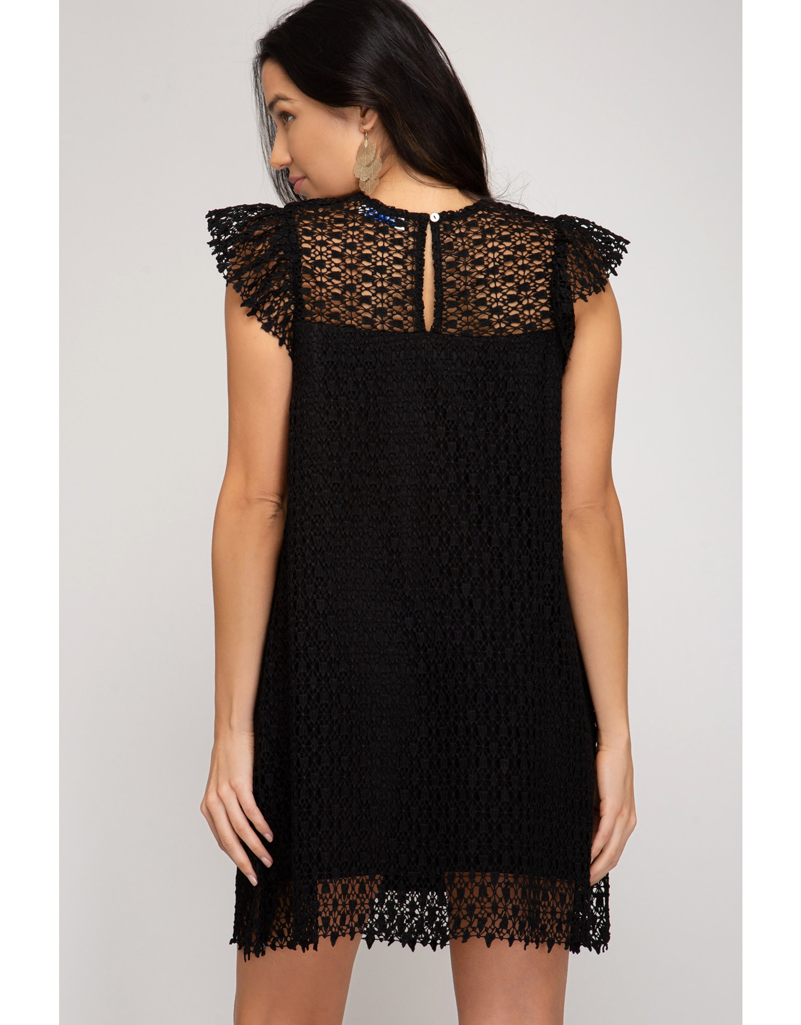 The Ritzy Gypsy MANDY Black Lace Dress