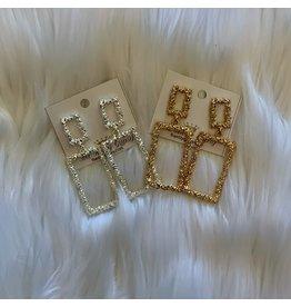 The Ritzy Gypsy HOLIDAY Block Earrings