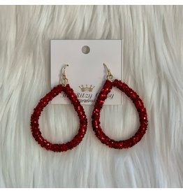 KNC Wholesale RED HOT Sparkle Earrings