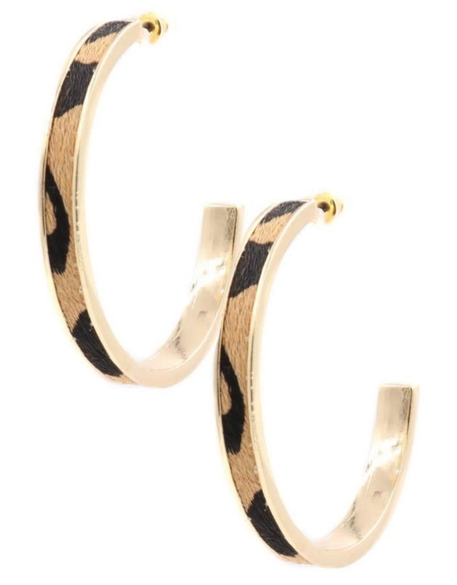 2UNIC DANI Leopard & Gold Hoops