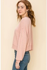 HYFVE MOLLY Pink Textured Sweater