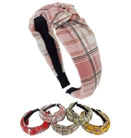 Funteze Accessories KELLY Plaid Headband