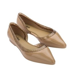 The Ritzy Gypsy HOLLY Melissa Beige Pointed Toe Flat
