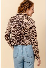 HYFVE CHIC Leopard Moto Jacket
