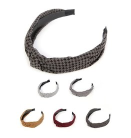Funteze Accessories HOUND Hounds Tooth Headband