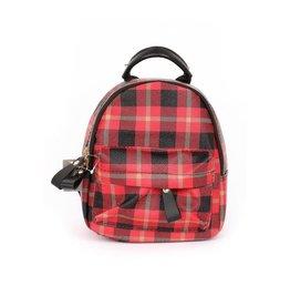 Funteze Accessories KARY Plaid Backpack