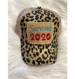 Buck Wholesale SURVIVED 2020 Leopard Trucker Hat