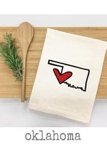 Things UnCommon OKLAHOMA LOVE Tea Towel