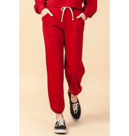 MADDIE Red Joggers