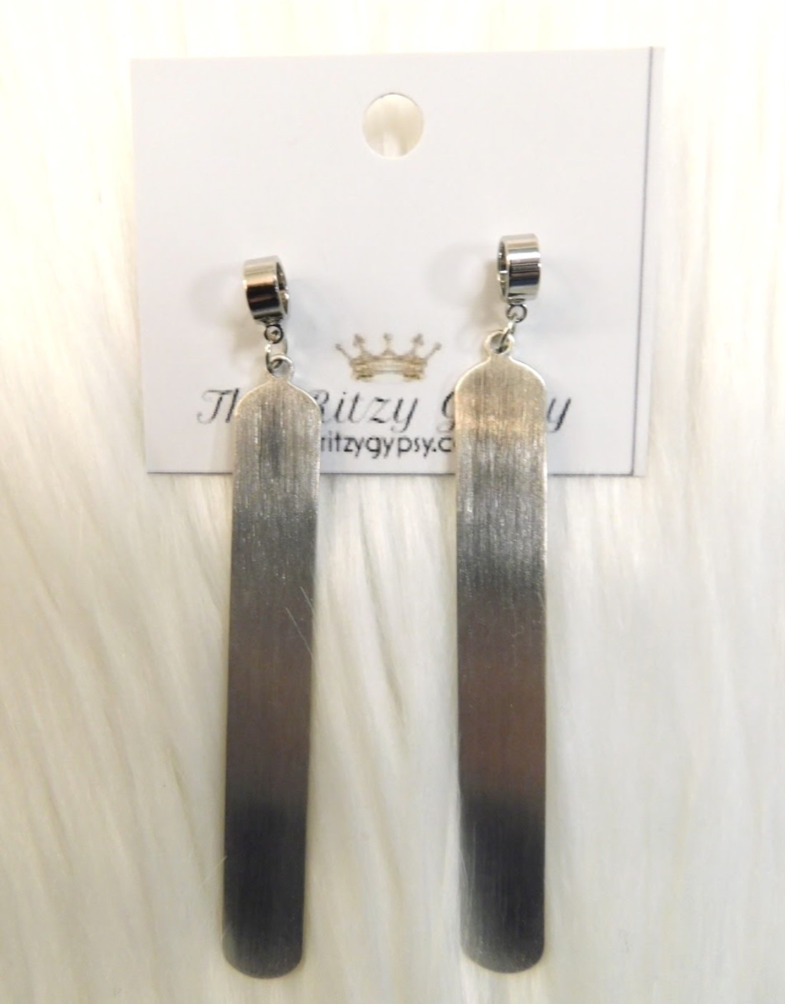 KNC CLARITY Brushed Drop Earring