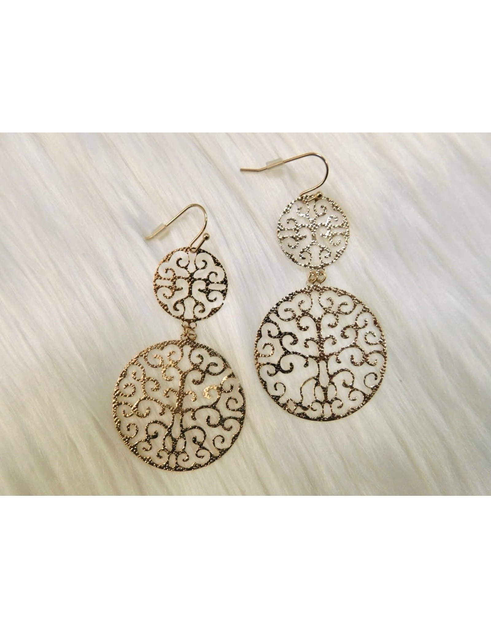 KNC CAI Filigree Drop Earring (gold and silver)