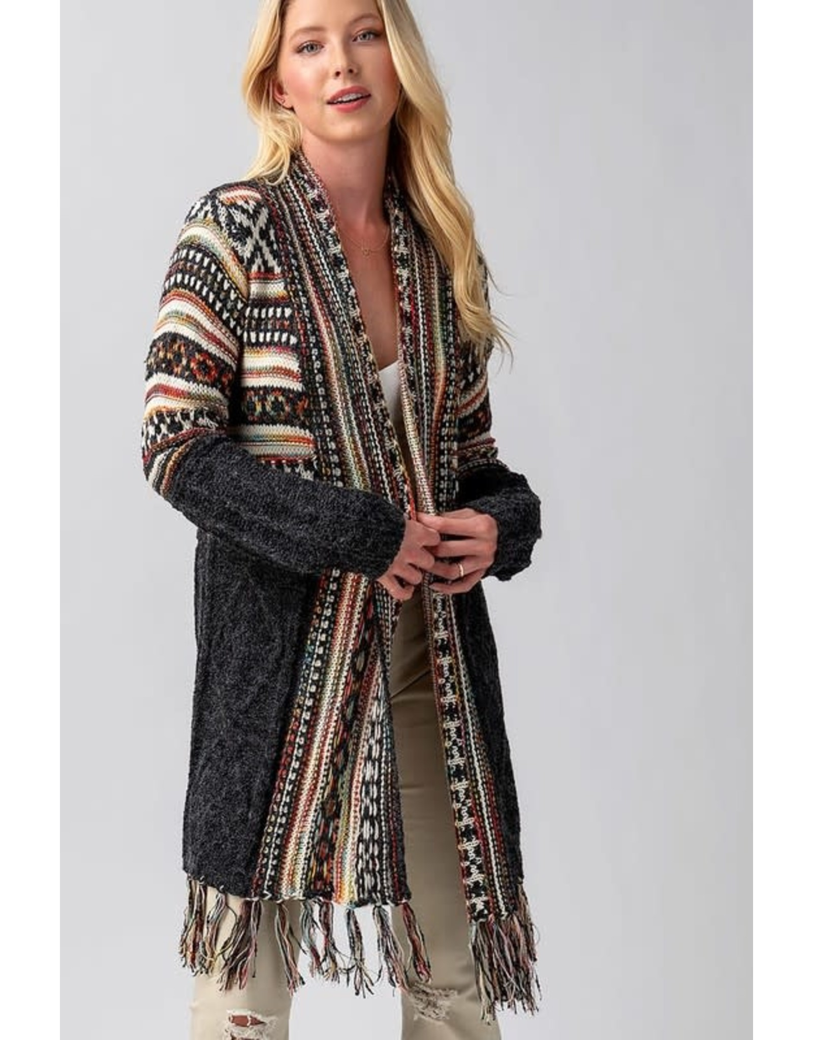 ARLO Textured Open Front Cardigan