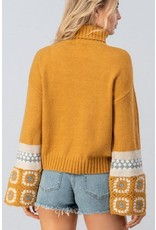 HENDRIX Sweater with Crochet Bell Sleeves