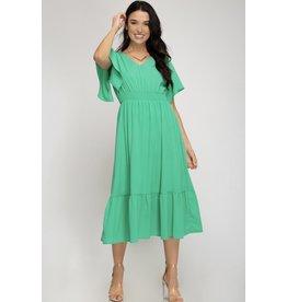 She+Sky REMY Half Sleeve Dress with Smocked Waistband