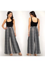 She+Sky SCOUT Leopard Palazzo Pants with Elastic Waistband
