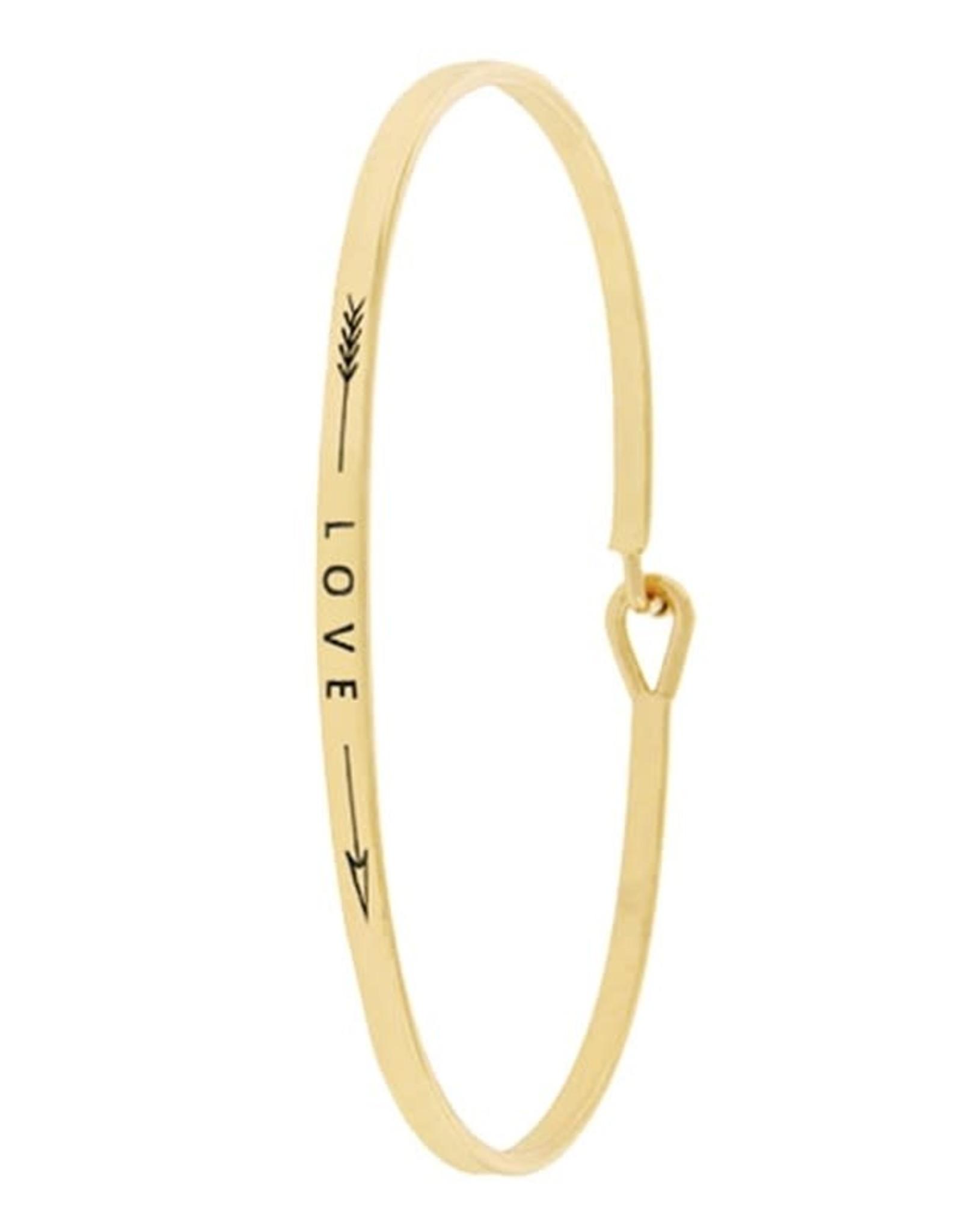 KNC ARROW LOVE Gold Bangle