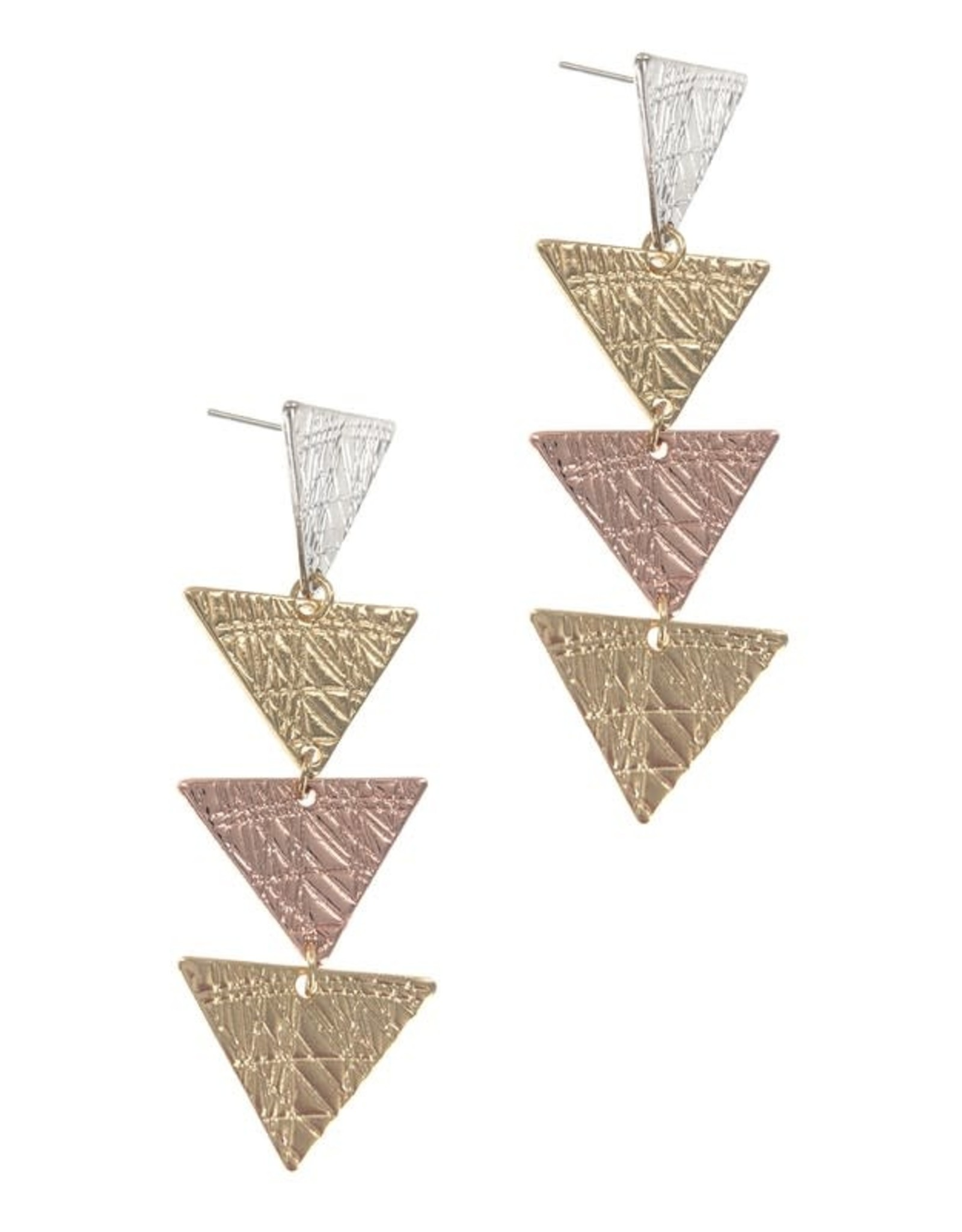 The Ritzy Gypsy HARLOW Triangle Tiered Earring