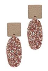 The Ritzy Gypsy RAMONA Glitter Leather Earring