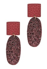 LucyLou Collection RAMONA Glitter Leather Earring