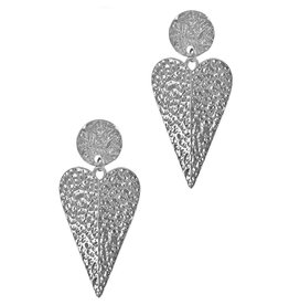 LucyLou Collection HE LOVES ME Hammered Heart Earring
