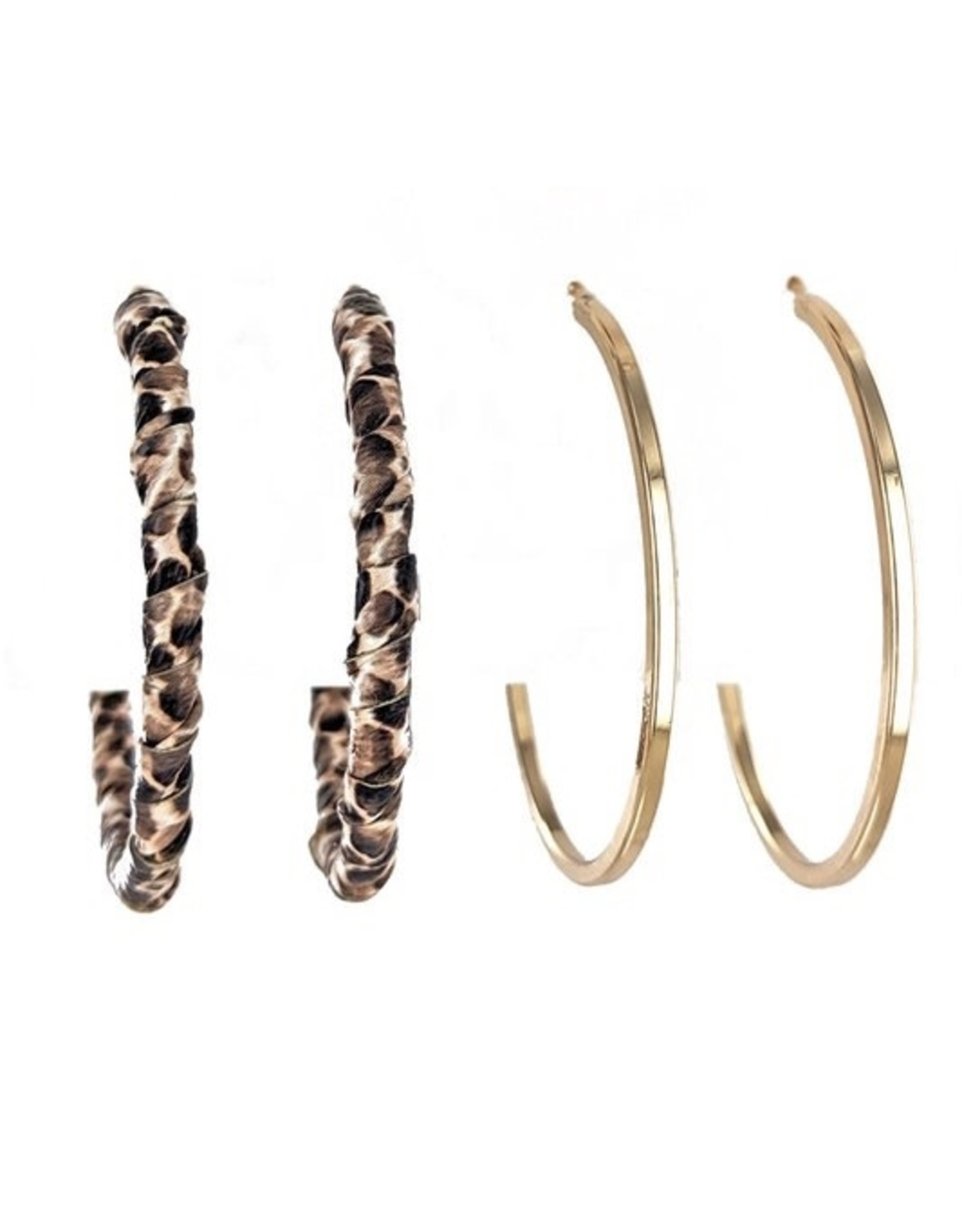LucyLou Collection SEEING DOUBLE Hoop Earring Set