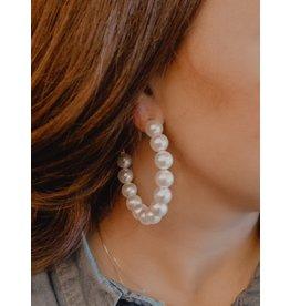 ARIEL Pearl Hoop Earring