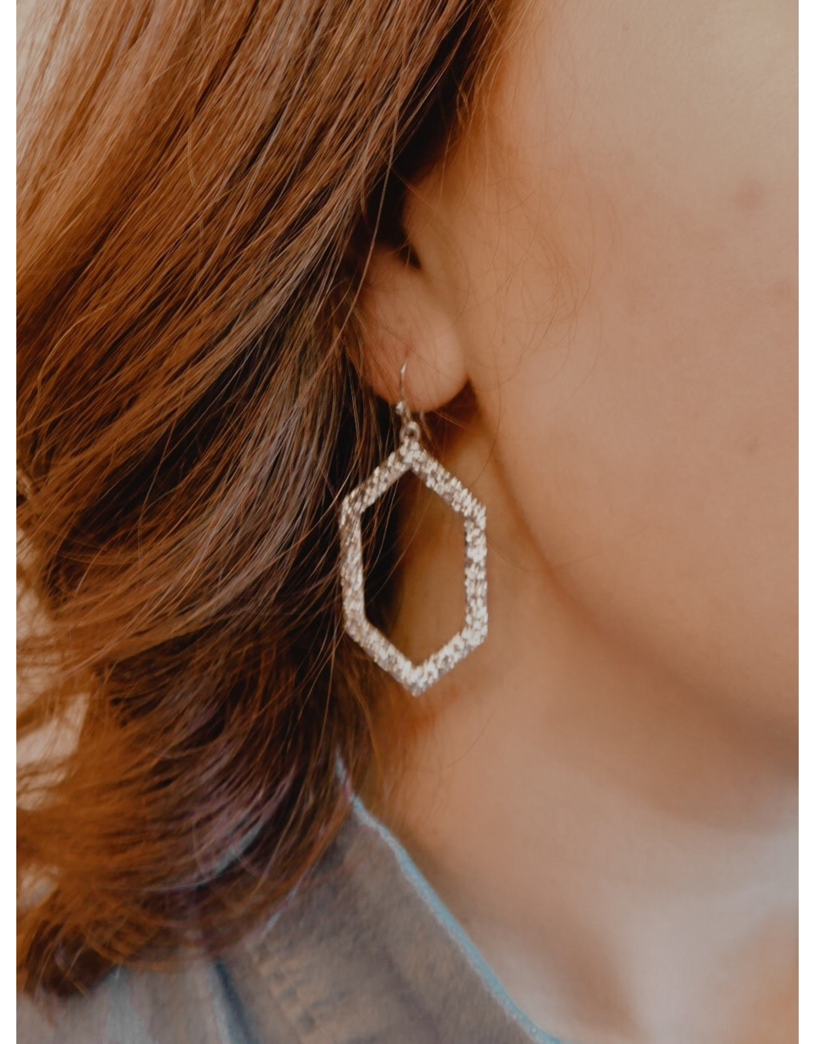 The Ritzy Gypsy GLAM Hexagon Earrings