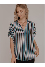 The Ritzy Gypsy MELODY Short sleeve Multi Striped top