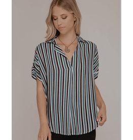 She+Sky MELODY Short sleeve Multi Striped top