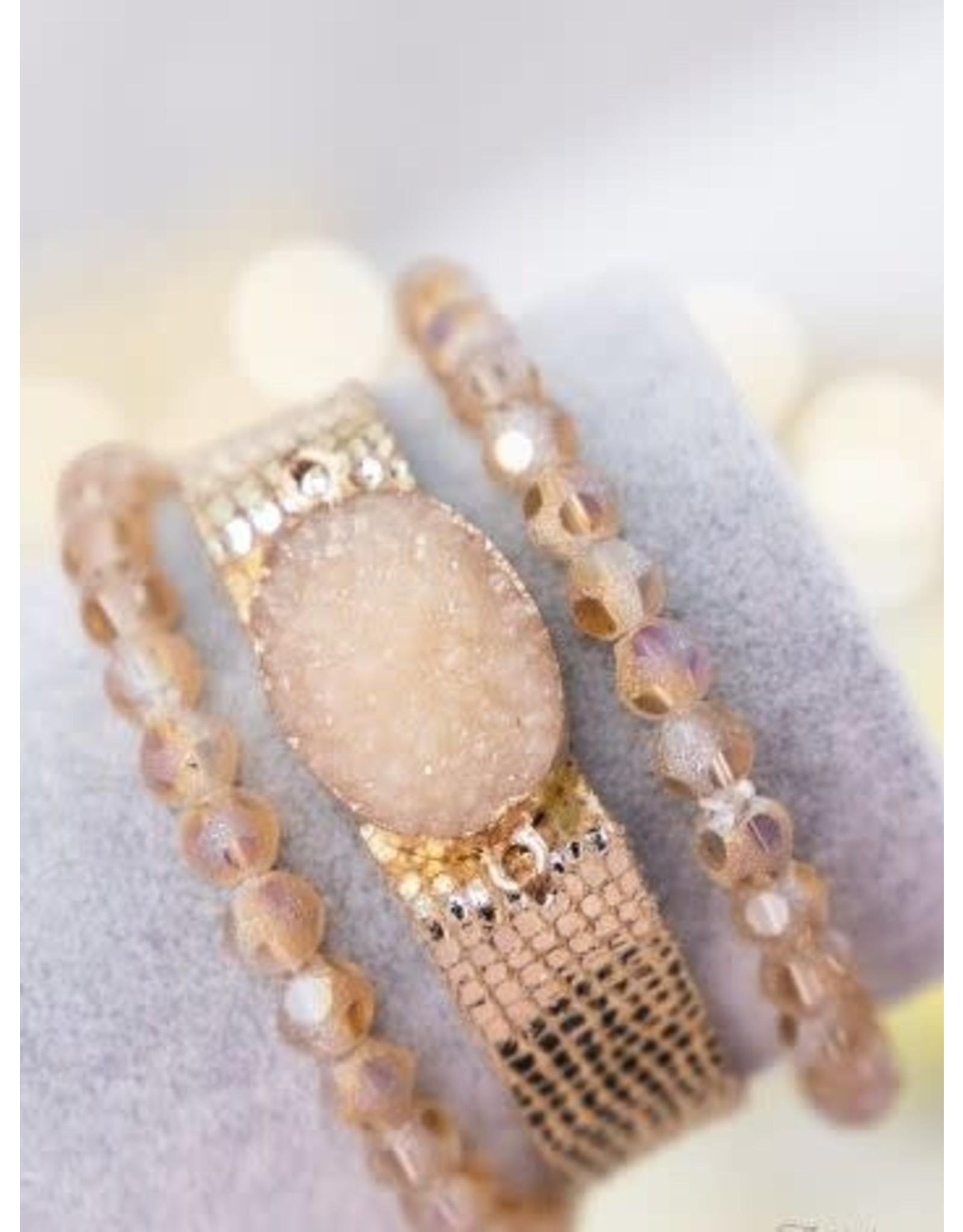 The Ritzy Gypsy RADIANCE Druzy Bracelet Set
