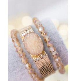 Southern Grace RADIANCE Druzy Bracelet Set