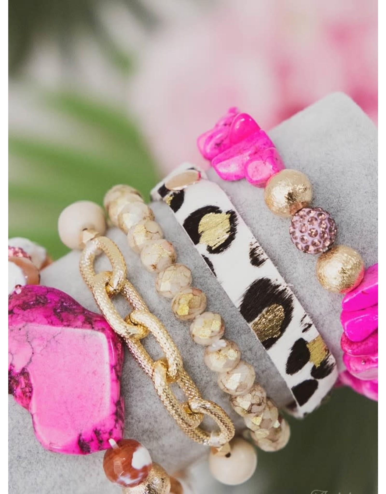 The Ritzy Gypsy LADY IN PINK Bracelet Set
