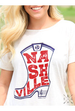 The Ritzy Gypsy NASHVILLE STAR Tee with Bow Back Detail